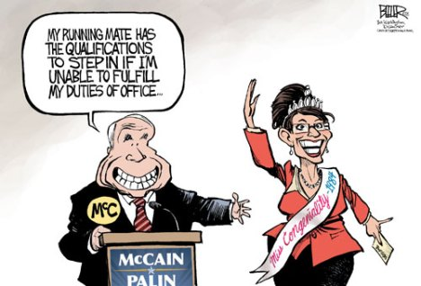 "Sarah Palin won the Miss Congeniality prize in the Miss Alaska Contest But There Isn't Much More ""There, There"""
