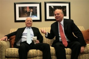 John McCain and Karl Rove