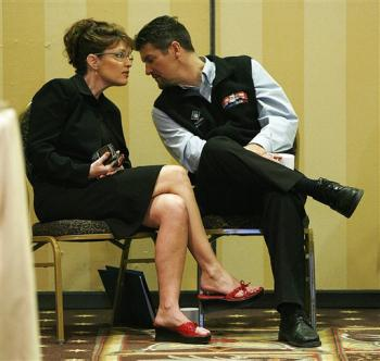 Sarah Palin with her husband, Todd Palin AP photo